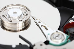 Closeup hard disk. Royalty Free Stock Image