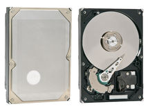 Closeup hard drive Stock Photo
