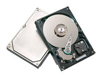 Closeup hard drive. Hard drive isolated on whight Royalty Free Stock Photos