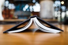 Opend Book Upside Down Stock Images