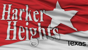 Closeup of Harker Heights City Flag Royalty Free Stock Photo