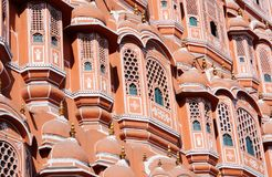 Closeup of Hawa Mahal palace in Jaipur,Rajasthan,India Stock Photos