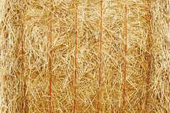 Closeup hay bale Royalty Free Stock Image