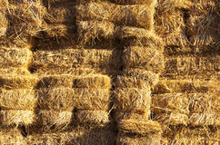 Closeup of a Haystack Royalty Free Stock Photos