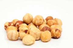 Closeup hazelnuts Royalty Free Stock Image