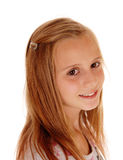 Closeup head shoot of young girl. Royalty Free Stock Images