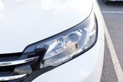 Closeup headlights of car. Royalty Free Stock Photos