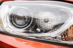 Closeup headlights of car Stock Images
