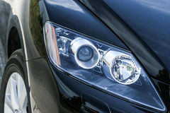 Closeup headlights of car royalty free stock images