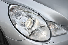 Closeup headlights of car royalty free stock photos