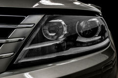 Closeup headlights of car. Royalty Free Stock Photo