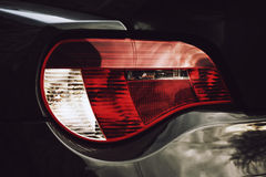 Closeup headlights of car. Stock Photos