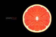 Closeup of Healthy Fresh Grapefruit Slice. Template Design Stock Photography
