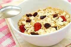 Closeup of healthy oatmeal Stock Image