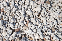 Closeup of a heap of broken brick and concrete Stock Photos
