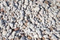 Closeup of a heap of broken brick and concrete Stock Photos