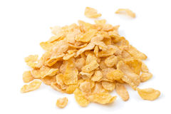 Closeup of heap of corn flakes cereals Royalty Free Stock Photography