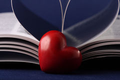 Closeup heart, pages folded into a heart shape Stock Photography