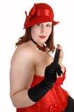 Closeup of heavy girl. Stock Photos