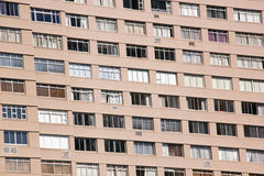 Closeup Hi-rise Apartment Complex with Brown Facade Stock Image