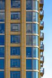Closeup of high rise near Temple Square royalty free stock images