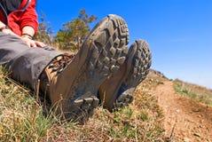 Closeup hiker feet