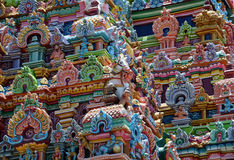 CLOSEUP OF HINDU SRIRANGAM TEMPLE Stock Photos