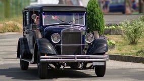 Closeup of historic Skoda saloon car