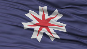 Closeup Hokkaido Japan Prefecture Flag Royalty Free Stock Images