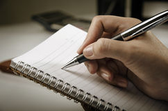 Closeup of writing Royalty Free Stock Images