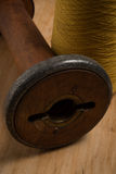 Closeup of Hole of Wooden Thread Spool Stock Photography