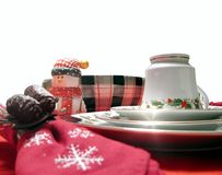 Closeup holiday table Stock Photo