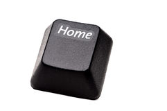 Closeup of a Home button from a computer Stock Photo