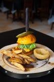 Closeup of home made burgers Royalty Free Stock Photos