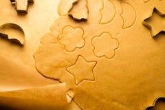 Closeup homemade gingerbread cookies Royalty Free Stock Photos
