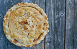 Closeup of Homemade Peach Pie Royalty Free Stock Photo
