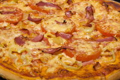 Closeup of homemade pizza Stock Photos