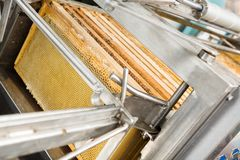 Closeup Of Honey Extraction Plant Stock Images