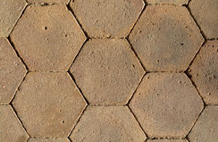 Closeup of honeycomb pattern tiles Stock Images
