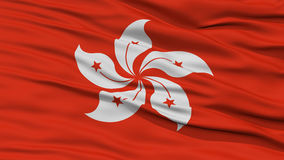 Closeup Hong Kong City Flag, Hong Kong Arkivfoton