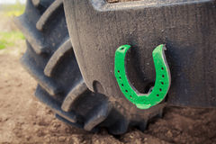 Closeup horse-shoe for happiness as Ukrainian tradition Stock Photo