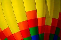 Closeup of a hot air balloon. Closeup of a colorful hot air balloon at a festival Stock Photos