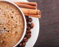 Closeup of hot cappuccino Stock Image
