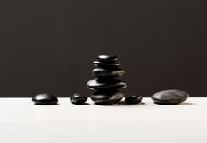 Closeup of hot massage stones Royalty Free Stock Photography