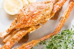 Closeup hot and spicy chili crab Royalty Free Stock Photos