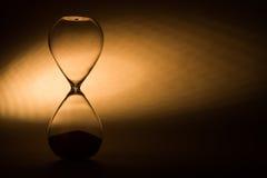 Closeup of hourglass Stock Photo
