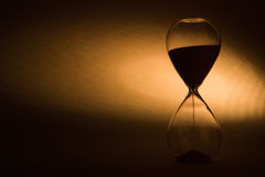 Closeup of hourglass Royalty Free Stock Image