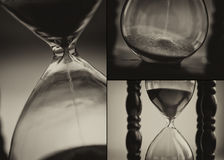 Closeup of hourglass clock Royalty Free Stock Images