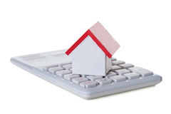Closeup Of House Model And Calculator Royalty Free Stock Images