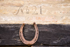 Closeup of house number 21 Royalty Free Stock Photos